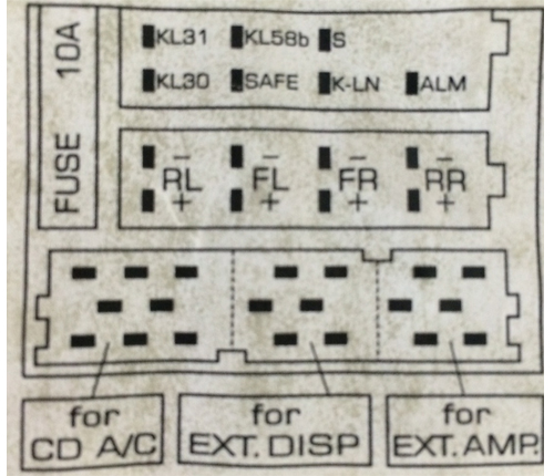 Vw beetle audio wiring radio diagram schematic colors