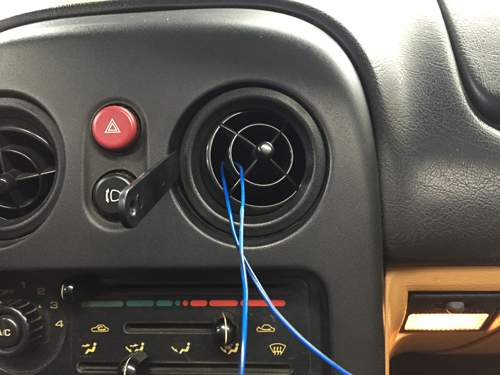 1994 Mazda Miata Vent Removal Headunit Audio Radio Wiring Install Diagram Schematic Colors